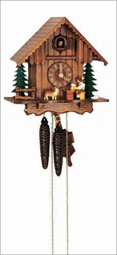 "Schneider 9"" Black Forest Beer Drinker and Dog German Cuckoo Clock - OktoberfestHaus.com  - 1"
