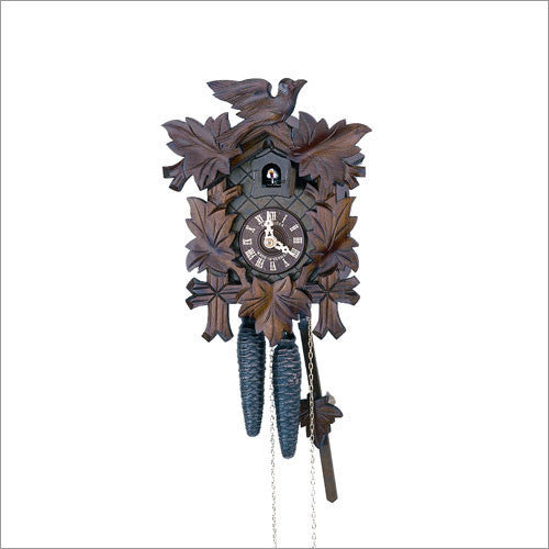 "Schneider 13"" Black Forest German Cuckoo Clock with Antique Finish - OktoberfestHaus.com"