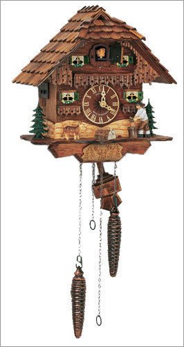 "Schneider 10"" Musical Black Forest Wood Chopper German Cuckoo Clock - OktoberfestHaus.com  - 1"