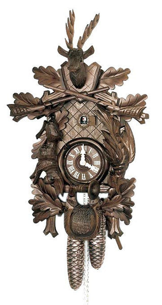 "Schneider 16"" Black Forest Hunter Theme Eight Day Movement German Cuckoo Clock - OktoberfestHaus.com"