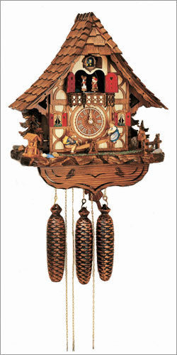 "Schneider Black Forest 17"" Musical Children on Teeter-totter Eight Day Movement German Cuckoo Clock - OktoberfestHaus.com  - 1"