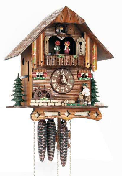 "Schneider 12"" Musical Wood Chopper with White Shirt German Cuckoo Clock - OktoberfestHaus.com"