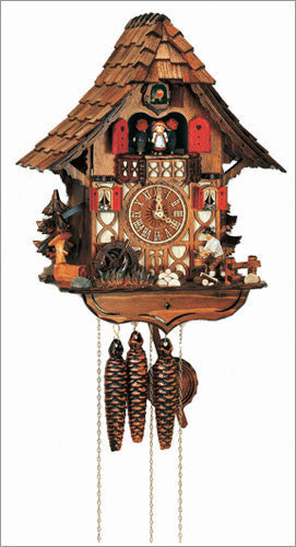 "Schneider Black Forest 14"" Musical Wood Choppers German Cuckoo Clock - OktoberfestHaus.com  - 1"