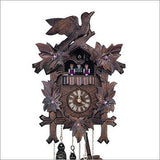 "Schneider Black Forest 13"" Musical Painted Flowers German Cuckoo Clock - OktoberfestHaus.com  - 1"