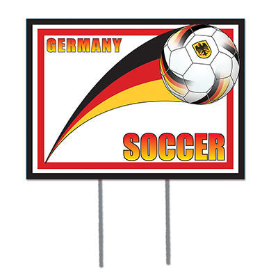 Beistle Plastic Yard Sign, 12-Inch by 16-Inch, Germany - DutchNovelties