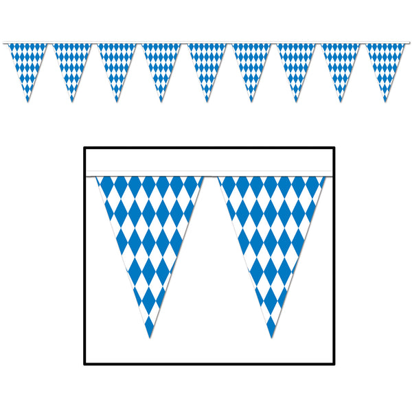 Oktoberfest Pennant Banner, 17 by 30-Feet - DutchNovelties