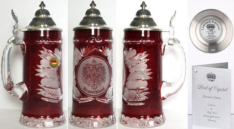 King Werks 0.5 Liter Lord of Crystal Beer Stein By King-Werks - GermanGiftOutlet.com