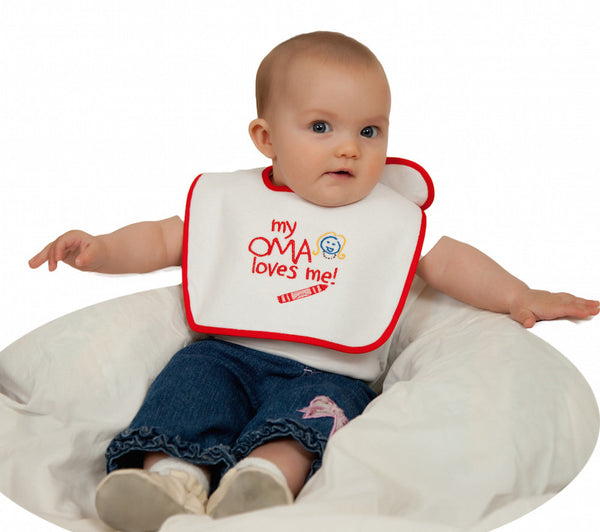 Cute Baby Bib: My Oma Loves Me - DutchNovelties  - 1