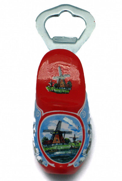 Metal Bottle Opener Red Wooden Shoe - DutchNovelties