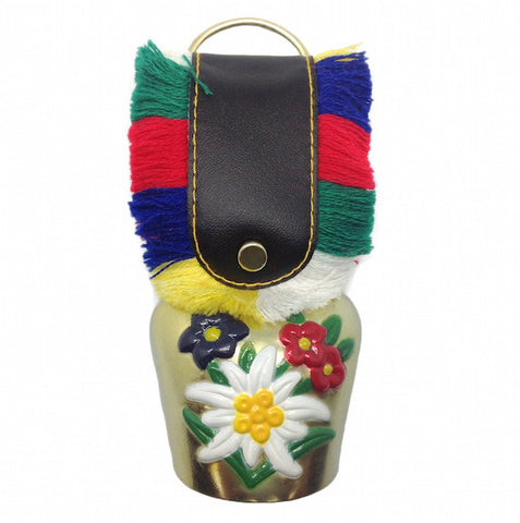 German Souvenir Edelweiss Bell - DutchNovelties  - 1