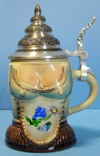 Lady's Dirndl German Beer Stein 0.125L By King-Werks - GermanGiftOutlet.com