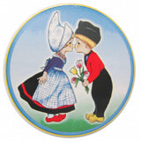 Ceramic Tile Coaster With Cork Backing Dutch Kiss - DutchNovelties  - 1