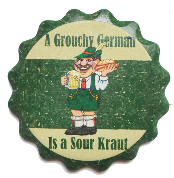 Ceramic Coaster Gift Set: Grouchy German - DutchNovelties