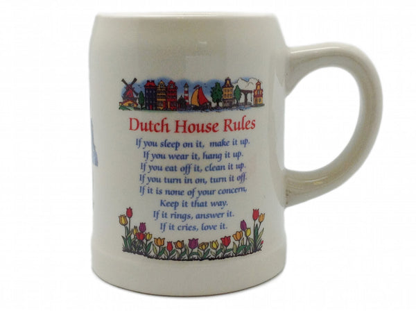 Dutch House Rules Ceramic Coffee Mug - DutchNovelties