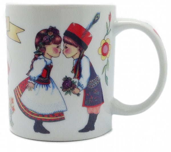 "Poland Gift Mug: ""I Love Poland"" - DutchNovelties"