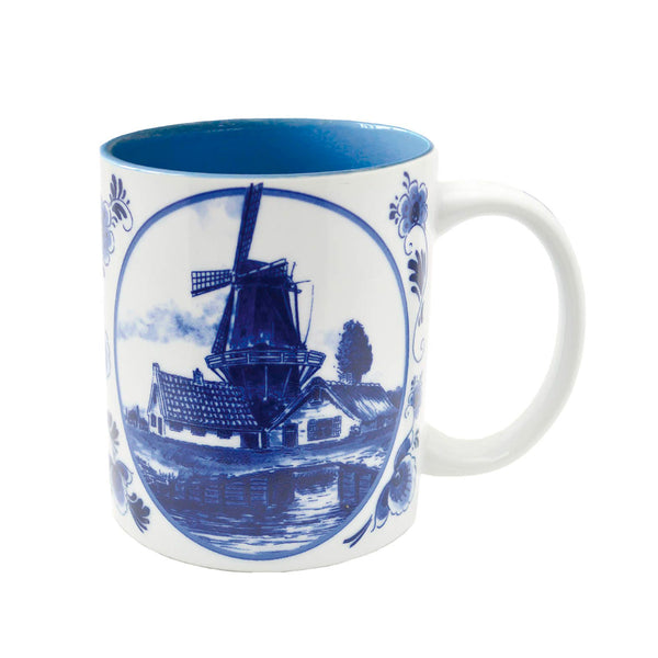 Dutch Windmill Delft Blue Coffee Mug