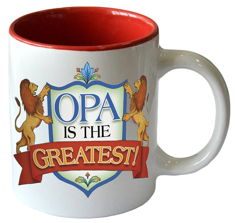 """Opa is the Greatest"" Color Ceramic Coffee Mug - DutchNovelties"