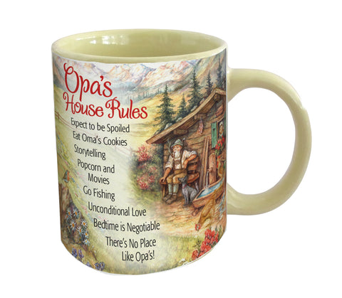 """Opa's House Rules"" Ceramic Coffee Cup - DutchNovelties"