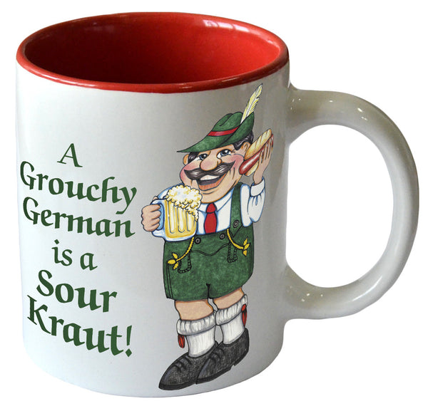 """A Grouchy German is a Sour Kraut"" Ceramic Coffee Cup - DutchNovelties"
