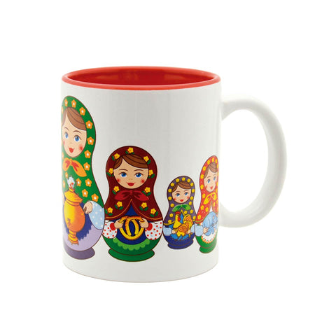 Russian Nesting Dolls Ceramic Coffee Cup