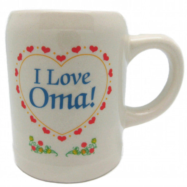 Dutch Ceramic Coffee Cup: I love Oma! - DutchNovelties