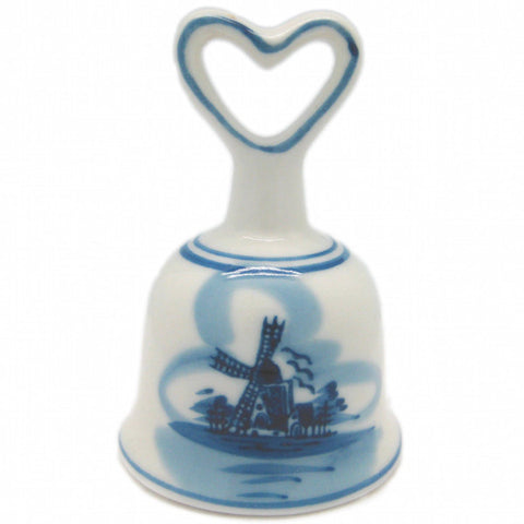 Dutch Windmill Delft Bell with Heart - DutchNovelties