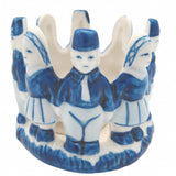 Votive Candle Delft Blue Dutch Children - DutchNovelties  - 1