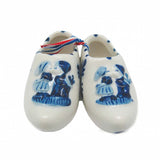 Wooden Shoe Delft Ceramic Shoe Embossed Kiss
