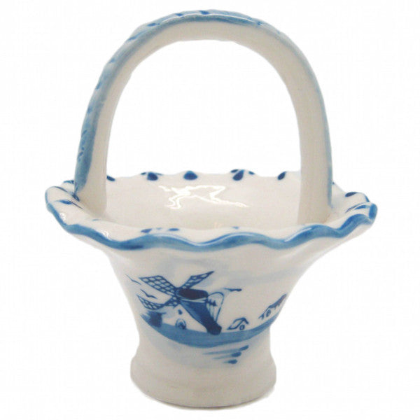 Dutch Gift Delft Blue Ceramic Basket - DutchNovelties