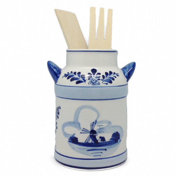 Milk Can Kitchen Utensils Holder Delft Blue - DutchNovelties  - 1