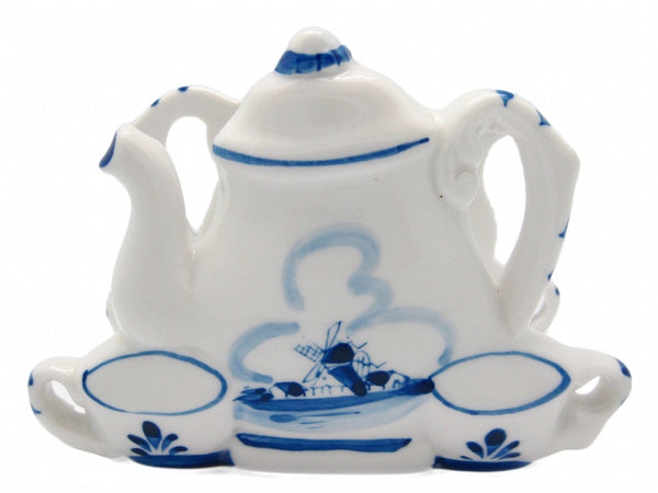 Napkin Holder with Tea Pot & Cups Delft Blue - DutchNovelties  - 1