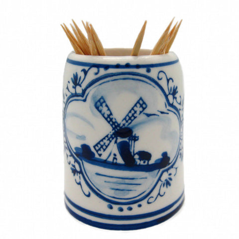 Blue and White Toothpick Holder - DutchNovelties  - 1