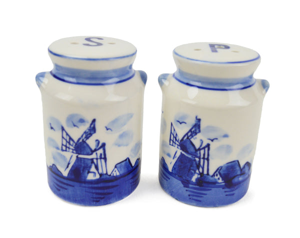 Collectible Delft Blue Salt and Pepper Set: Milk Cans - DutchNovelties  - 1