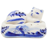 Delft Cat on Pillow Salt and Pepper Set - DutchNovelties  - 1