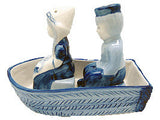 Delft Boat Salt and Pepper Set - DutchNovelties  - 1