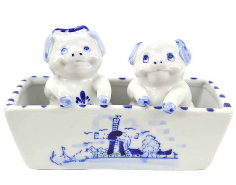 Pigs Delft Salt and Pepper Shaker - DutchNovelties  - 1