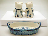 Bears Basket Delft Salt and Pepper Shaker - DutchNovelties  - 3