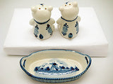 Bears Basket Delft Salt and Pepper Shaker - DutchNovelties  - 2