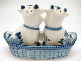 Cows Basket Delft Salt and Pepper Shaker - DutchNovelties  - 4