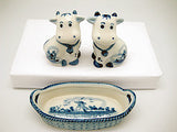 Cows Basket Delft Salt and Pepper Shaker - DutchNovelties  - 2