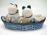 Frogs Basket Delft Salt and Pepper Shaker - DutchNovelties  - 2