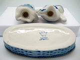 Frogs Basket Delft Salt and Pepper Shaker - DutchNovelties  - 3