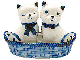 Cats Basket Delft Salt and Pepper Set - DutchNovelties  - 1
