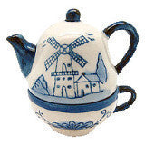 Tea Cup and Pot Delft Salt and Pepper Sets - DutchNovelties  - 1
