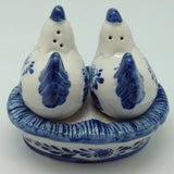 Chickens on Nest Delft Salt and Pepper Sets - DutchNovelties  - 2
