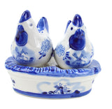 Chickens on Nest Delft Salt and Pepper Sets - DutchNovelties  - 1