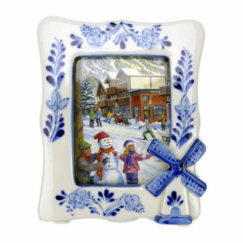 Delft Blue Ceramic Unique Picture Frame - DutchNovelties  - 1