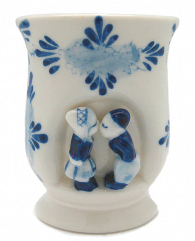 Ceramic Delft Blue Kissing Couple Vase or Cup - DutchNovelties  - 1