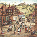 "Village Dancers 6x6"" Ceramic Wall Plaque - DutchNovelties  - 1"