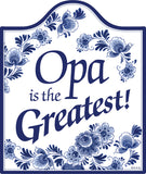 Delft Blue Ceramic Cheeseboard: Opa Is the Greatest - DutchNovelties  - 1